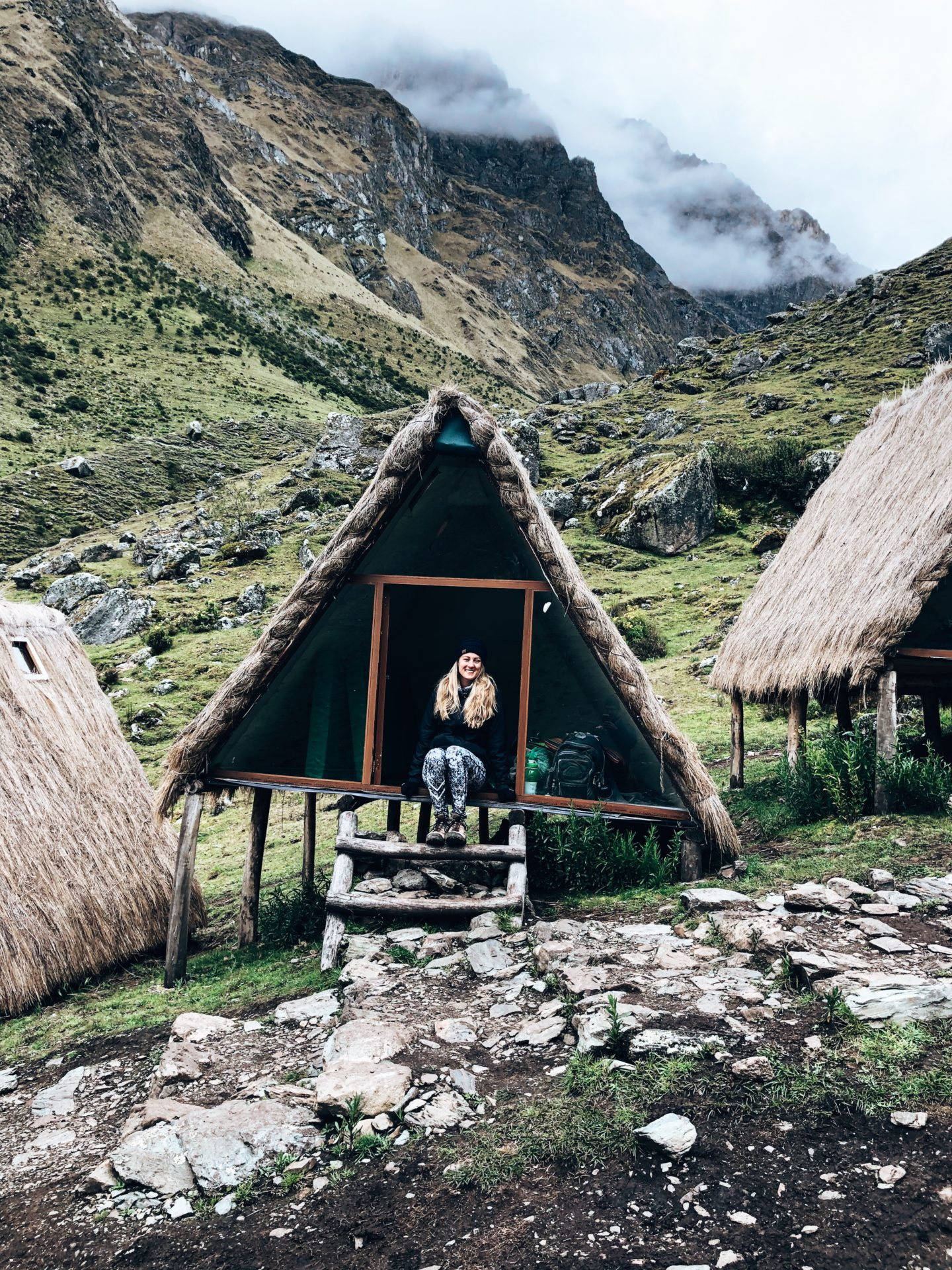 Unique huts that we slept in overnight on our first evening of the salkantay trek