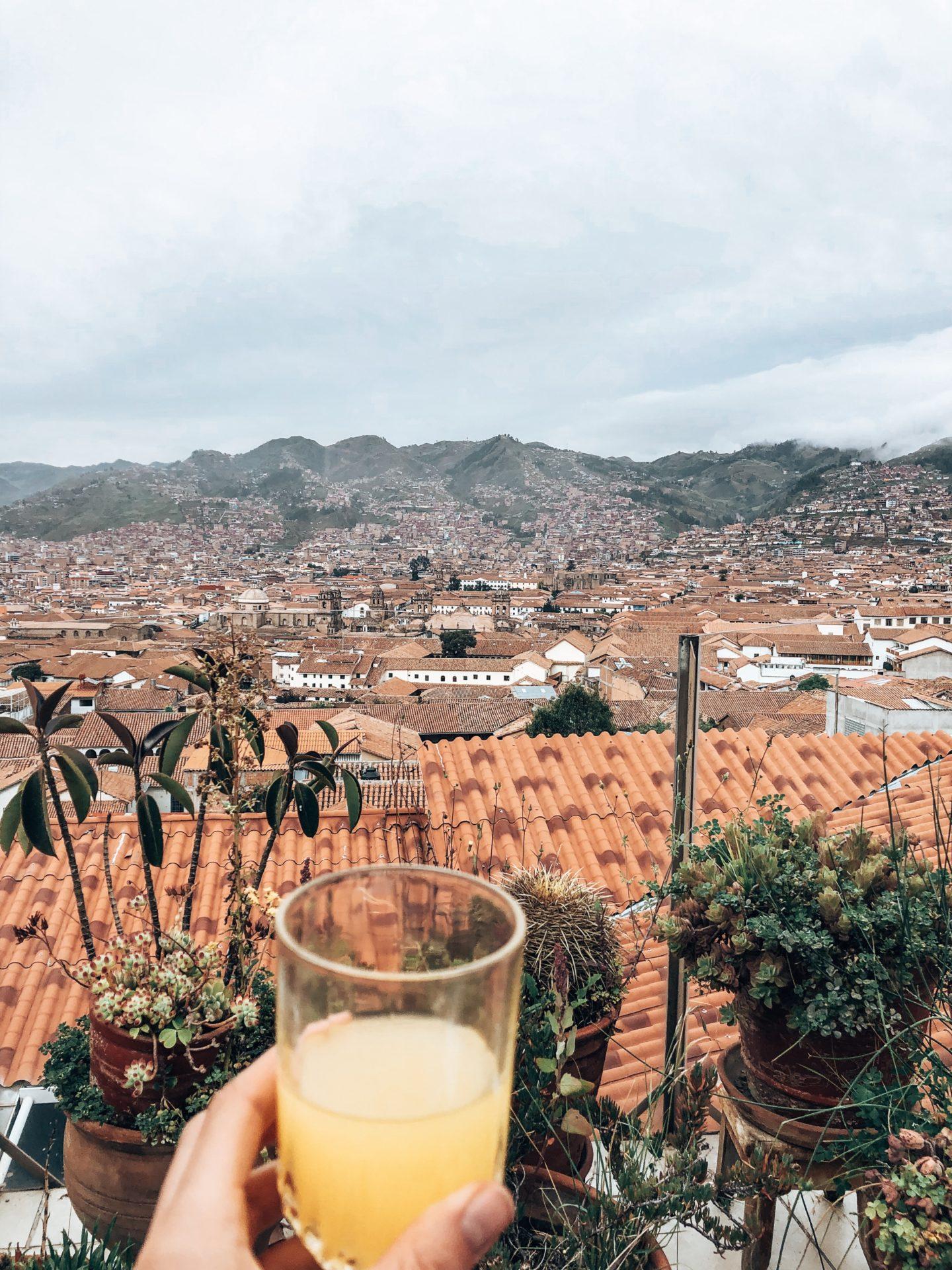 One last fresh OJ cheers to Cusco Peru!