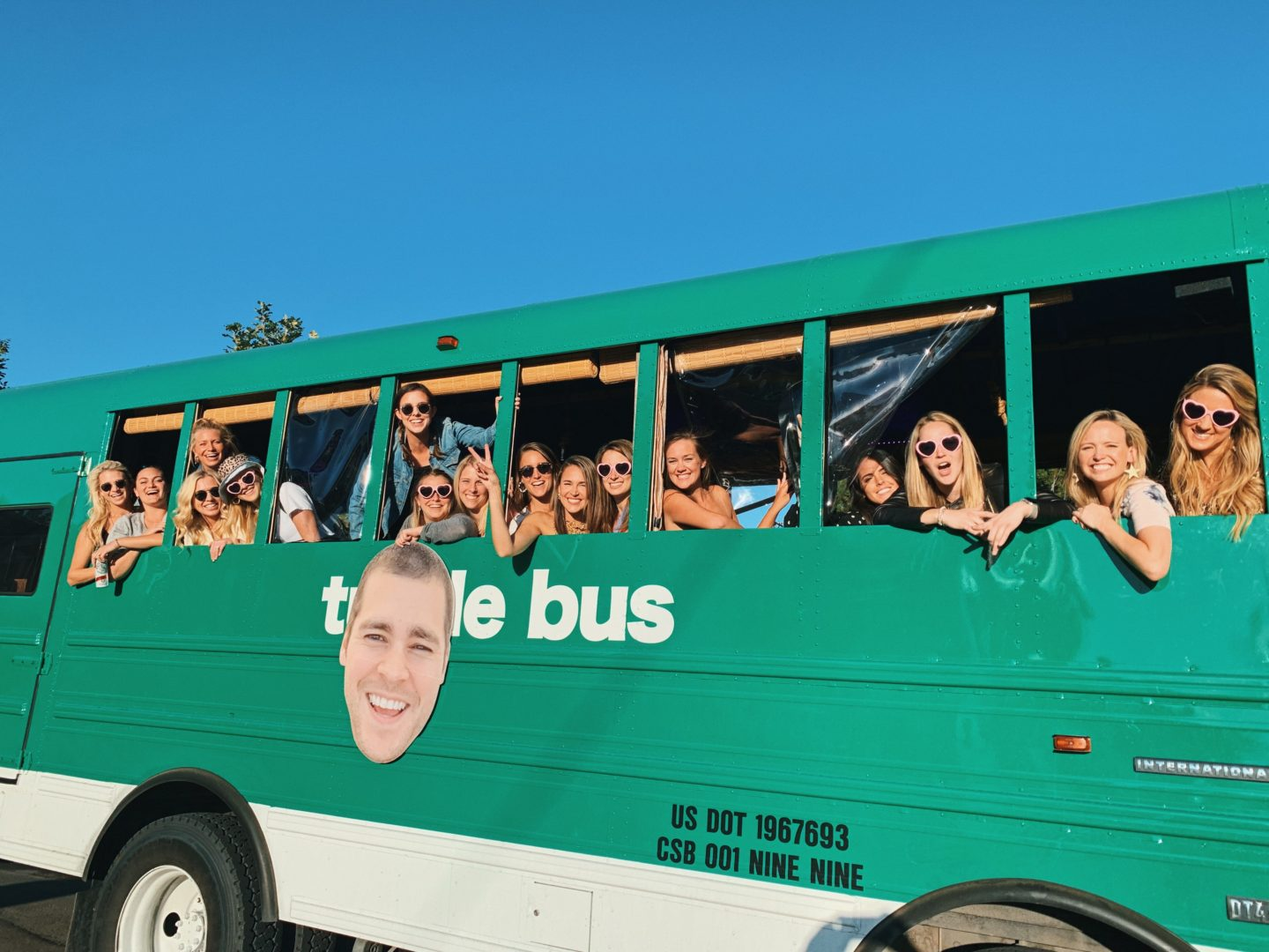Riding on the Turtle Bus from Denver to Red Rocks Amphitheater!