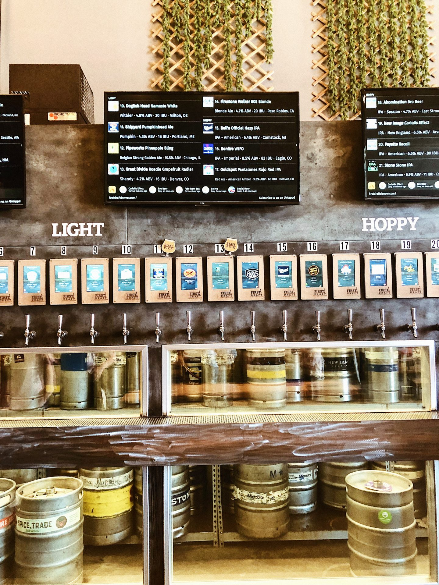 A stop at a brewery on our beer peddler around Denver.