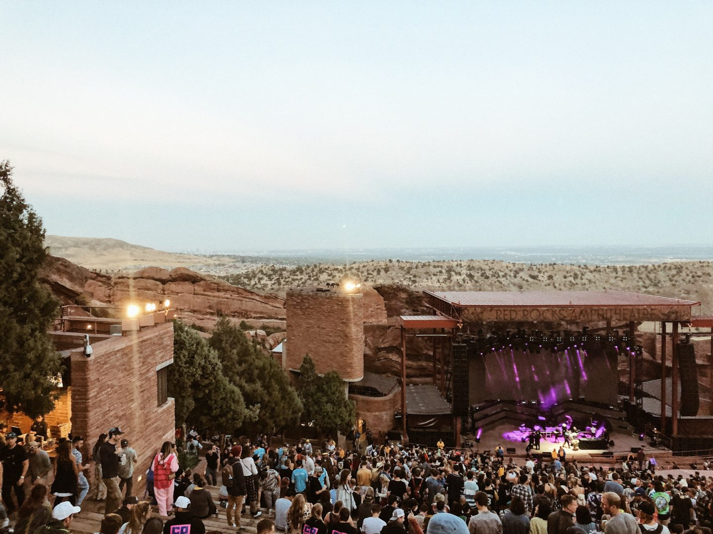 Just a short drive outside of Denver, the gorgeous red rock amphitheater!