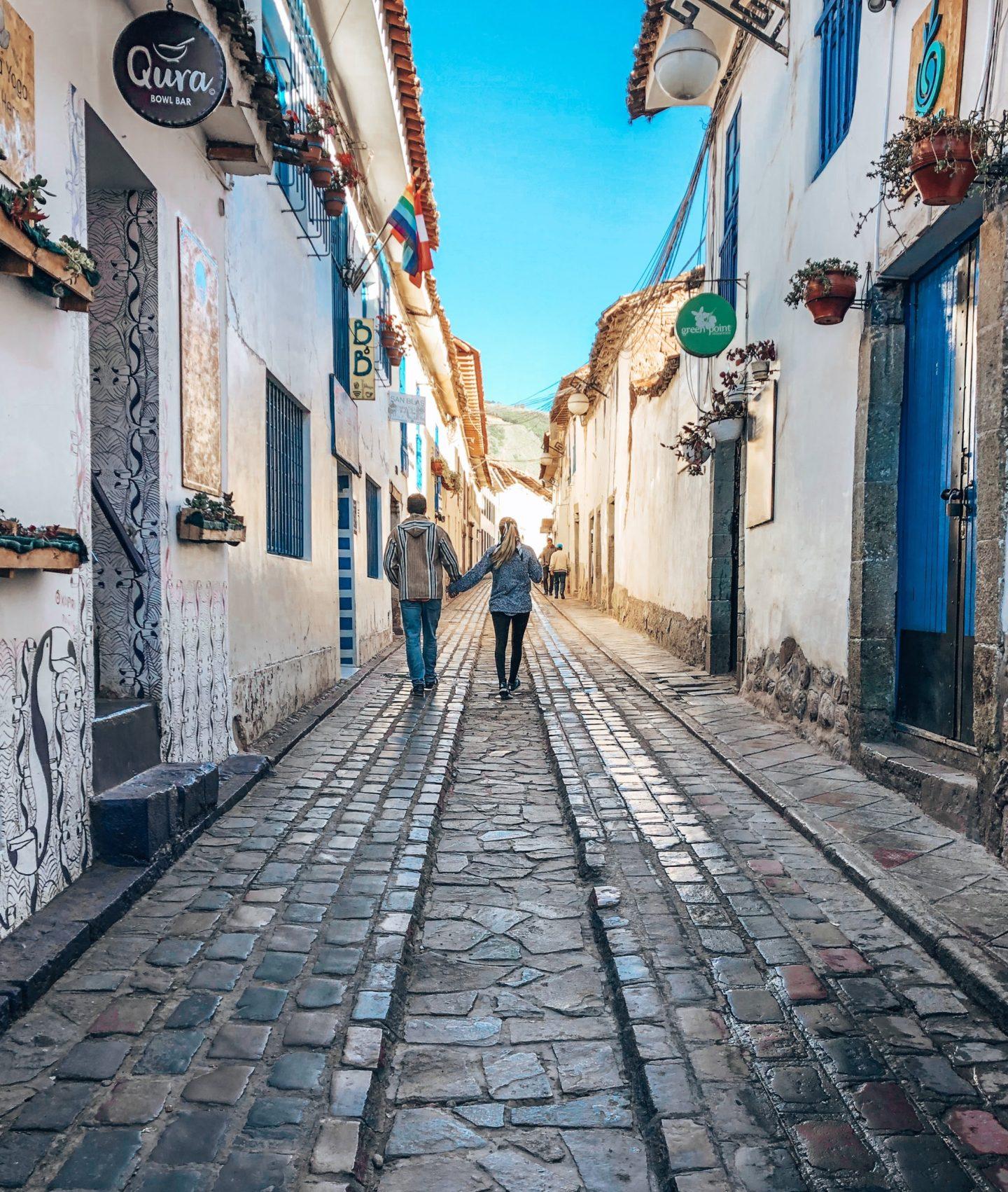 Roam the charming streets of Cusco in Peru