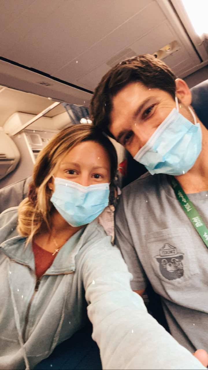 Traveling via airplane during COVID-19 pandemic
