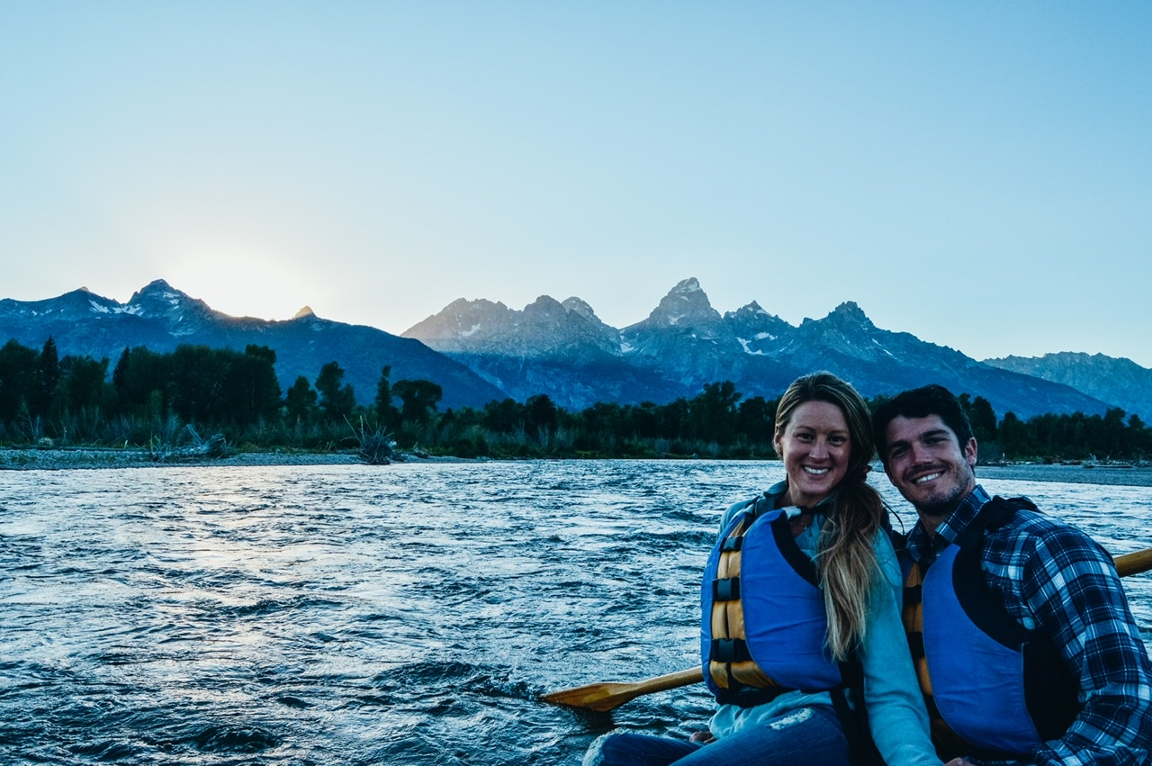 Scenic float down the Snake River in Jackson Hole Wyoming