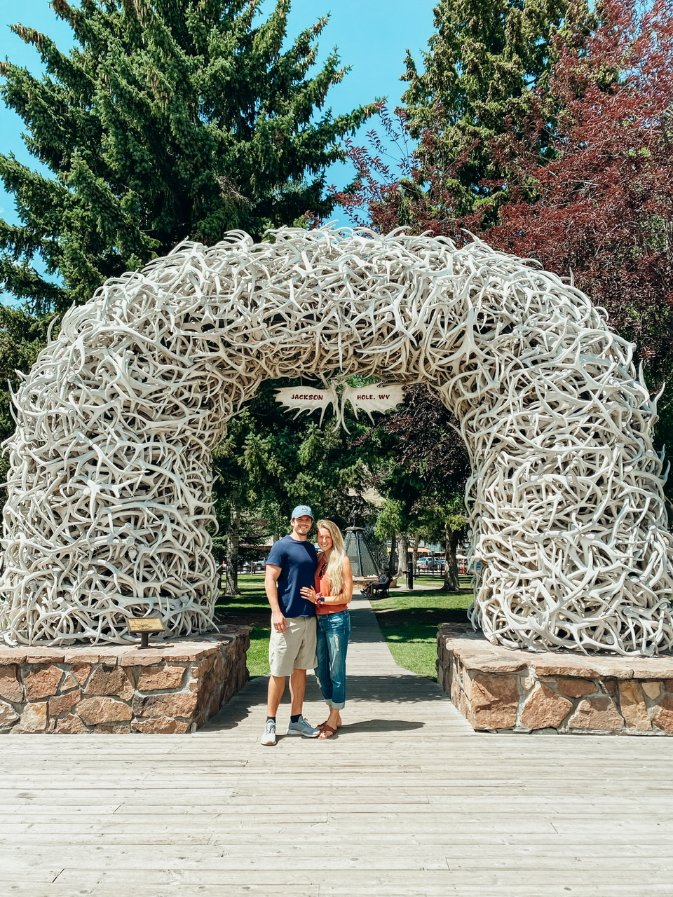 Downtown Jackson Hole Wyoming at the elk arch