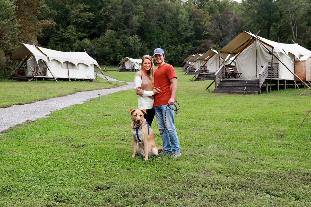 Dog friendly glamping in the smokey mountains, tennessee