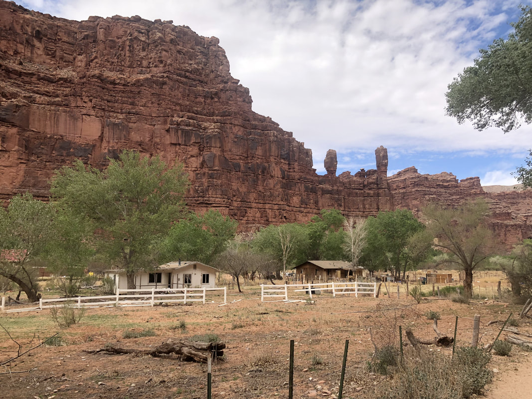 Native American indian reservation land on the hike to Havasupai campsite