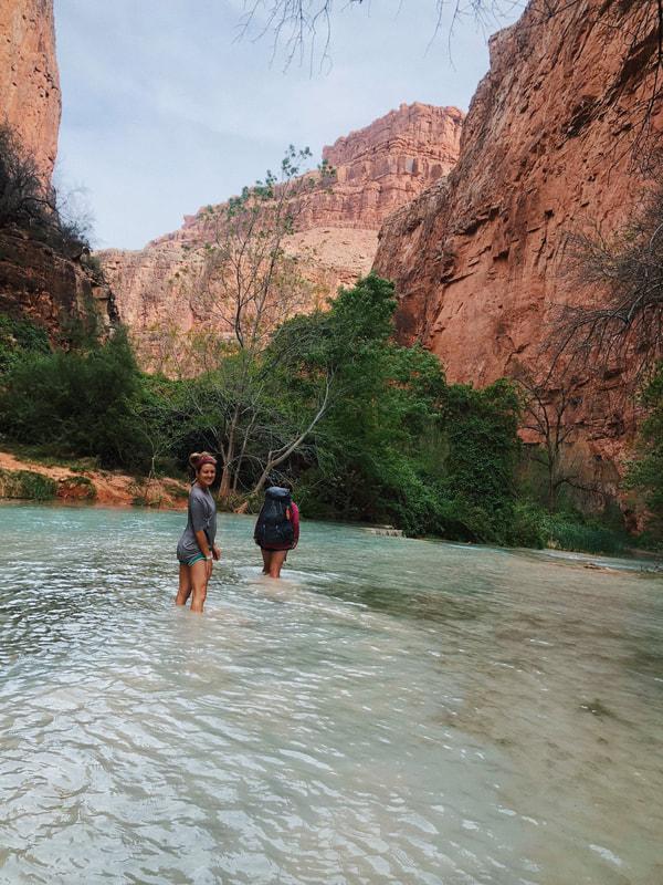 Trekking through the canyon