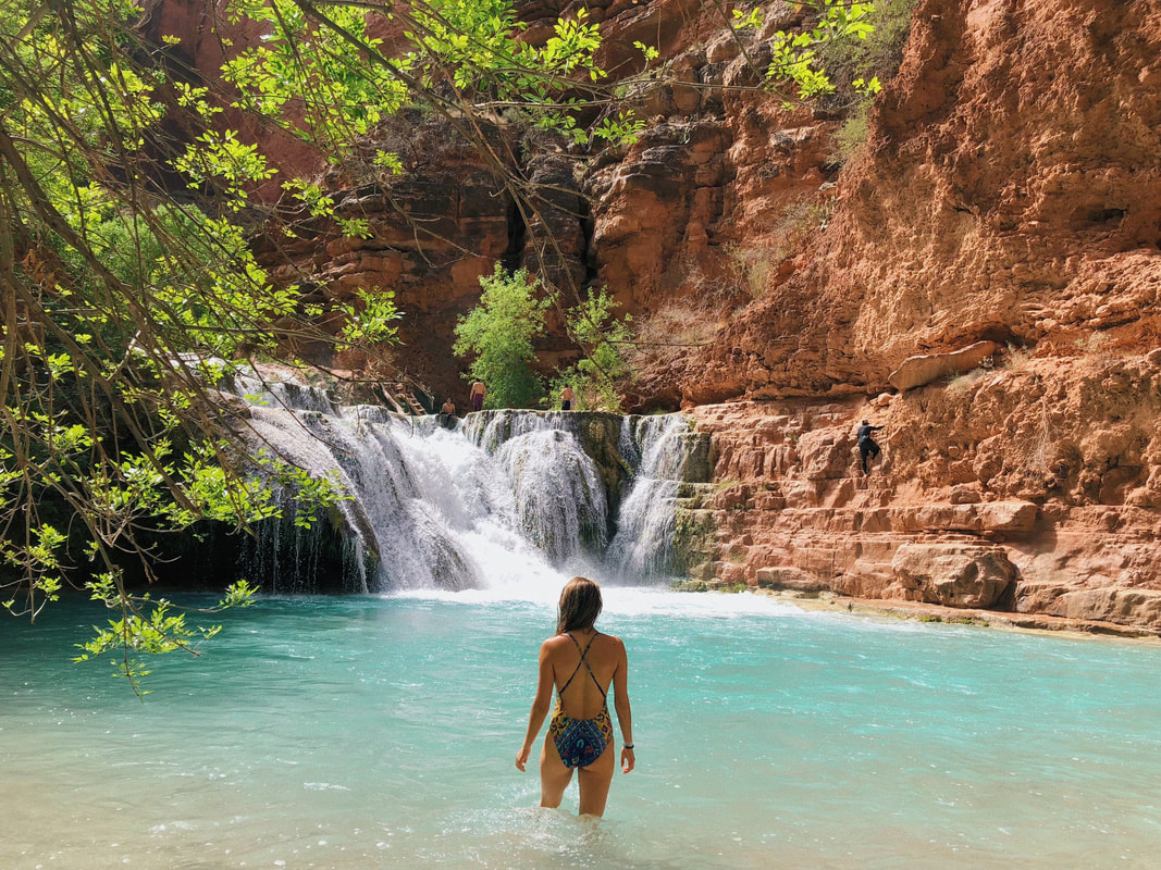 About Me Travel Section. Hiking to Mooney and Beaver Falls on our 3-day Hiking trip to Havasupai Arizona.