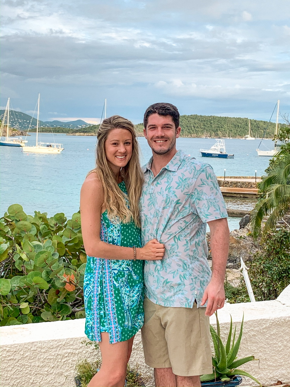 Final night photo in St Thomas outside of our AirBnB before group dinner