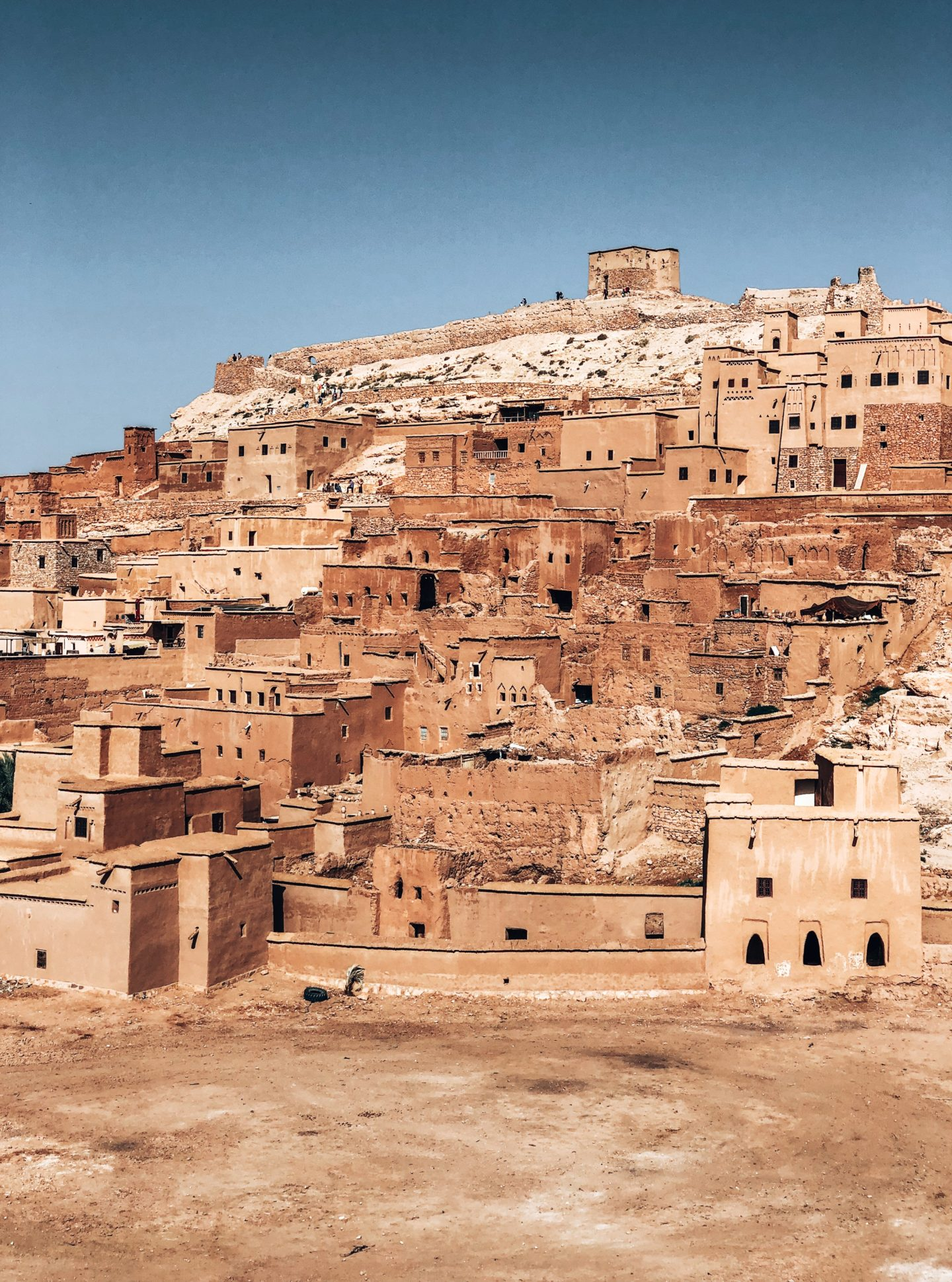 Just like a move scene, the chalky red-brown architecture of Ben Ait Haddou in Morocco makes you feel like you are in a whole other world.