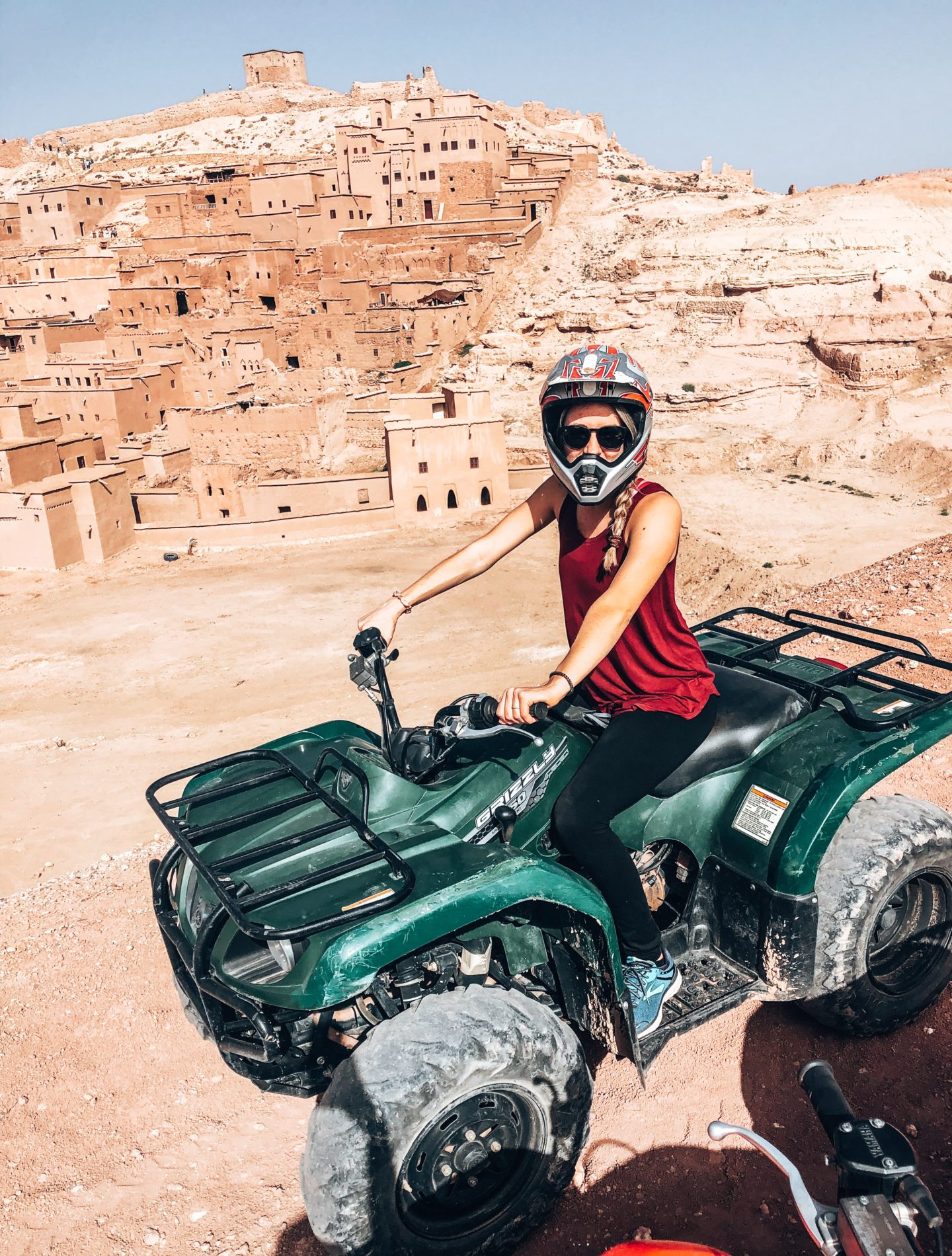 ATVing around Ben Ait Haddou in Morocco on We are travel girls trip