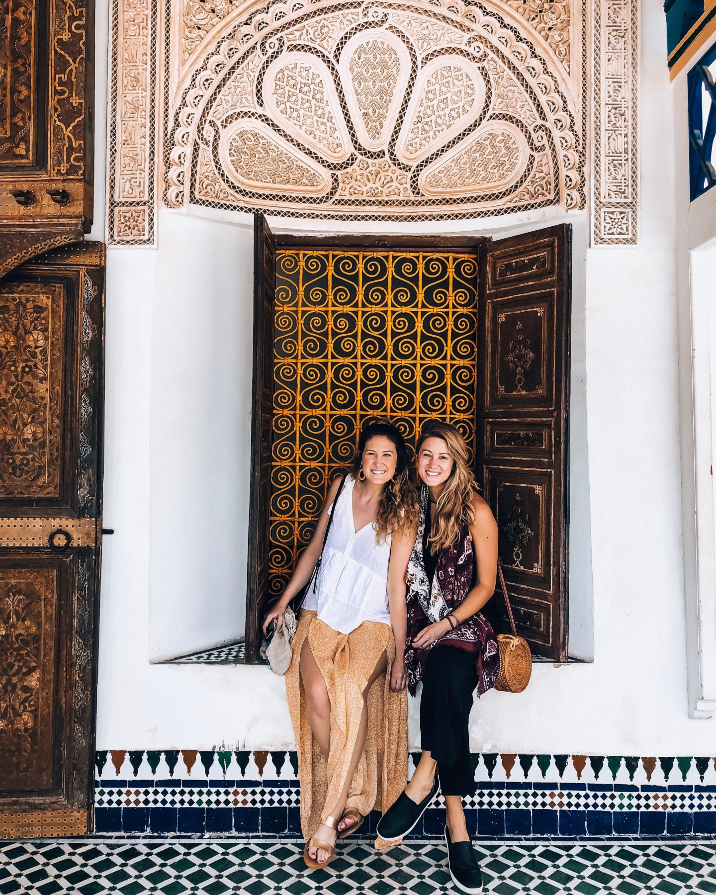 From Atlanta to Morocco, exploring all there is to see in Morocco as we sat in Bahia Palace.