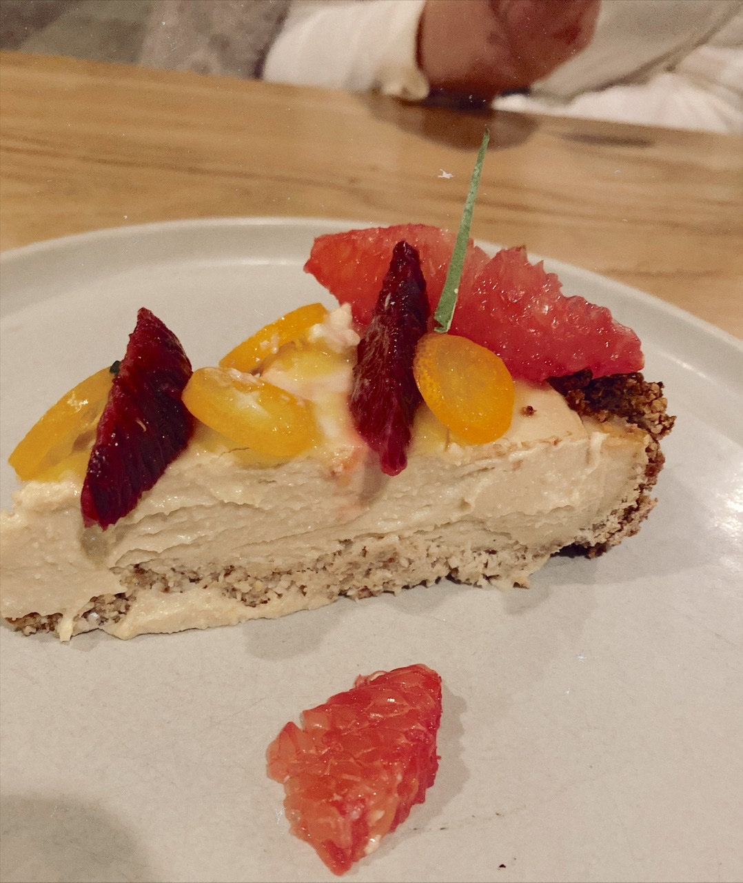 Dairy-free cheesecake at Terras