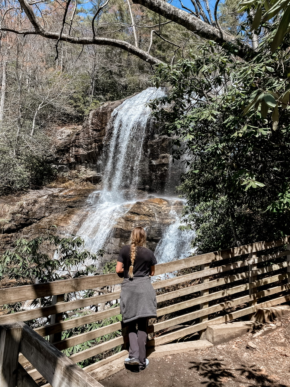 Chasing waterfalls in Highlands , North Carolina during our quick 48 hour stay!