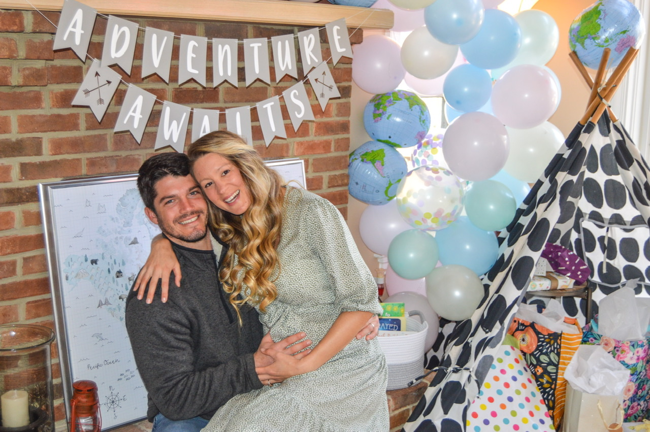 Third Trimester baby shower celebrating our future travel babe!