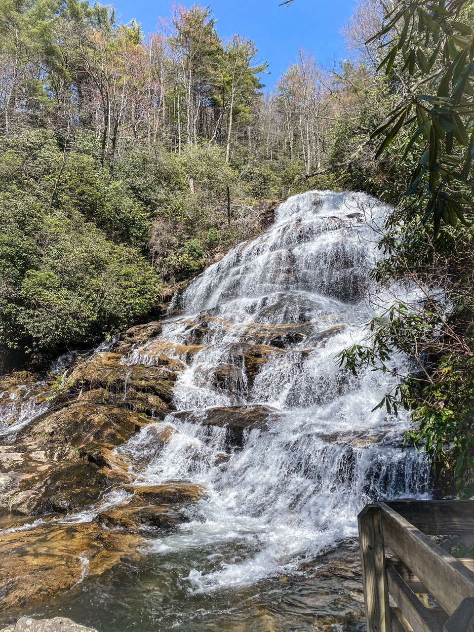 Glen Falls easy to moderate hike on the outskirts of Highlands, North Carolina!