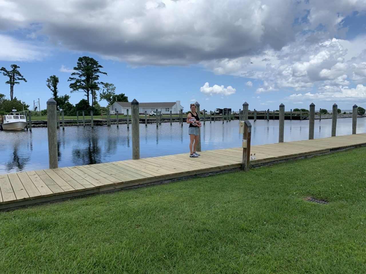 stopping at scenic pit stops along the 2 day road trip from Atlanta Georgia to the Outer Banks North Carolina with a baby